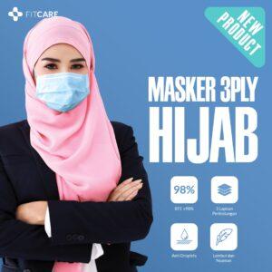 Jual Masker 3PLY Hijab